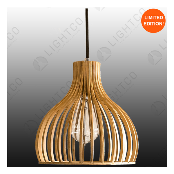 PENDANT LIGHTCO PLYWOOD VASE SMALL