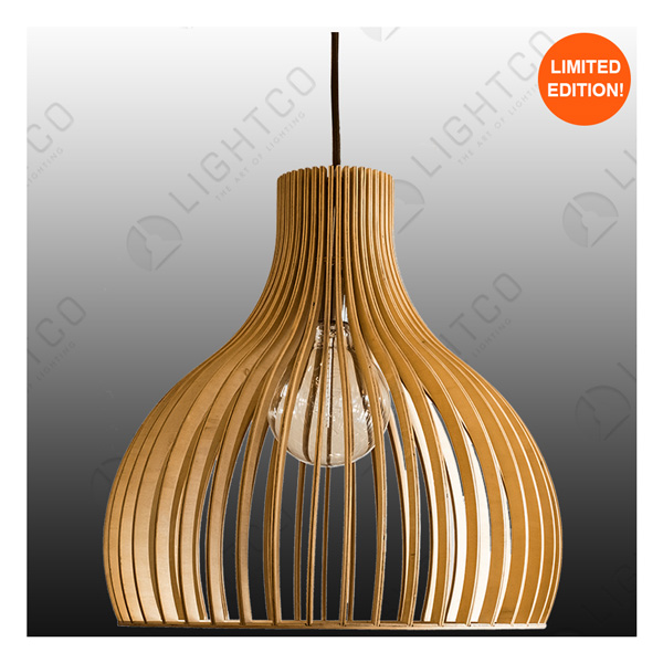 PENDANT LIGHTCO PLYWOOD VASE LARGE