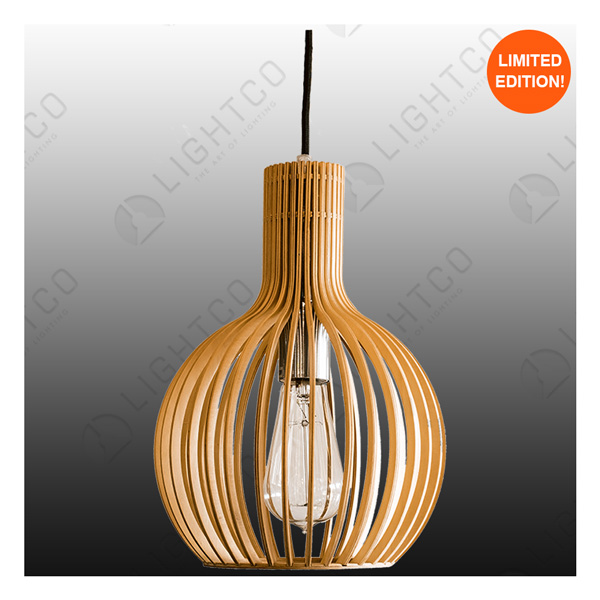 PENDANT LIGHTCO PLYWOOD ROUND SMALL