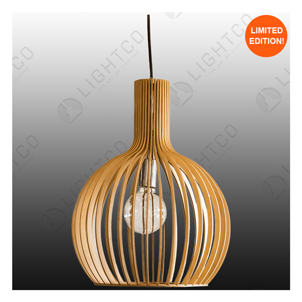 PENDANT LIGHTCO PLYWOOD ROUND MEDIUM