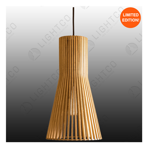 PENDANT LIGHTCO PLYWOOD LONG MEDIUM