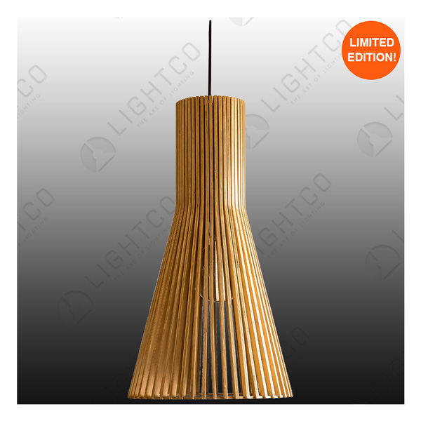 PENDANT LIGHTCO PLYWOOD LONG LARGE