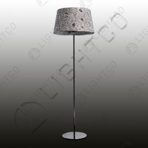 FLOOR LAMP ACRYLIC SHADE AND CRYSTALS