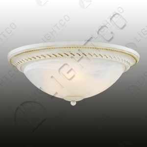 CEILING LIGHT METAL BODY ALABASTER SHADE