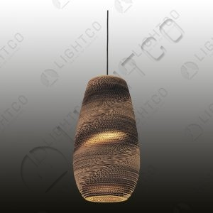 PENDANT CARDBOARD OVAL SHAPED