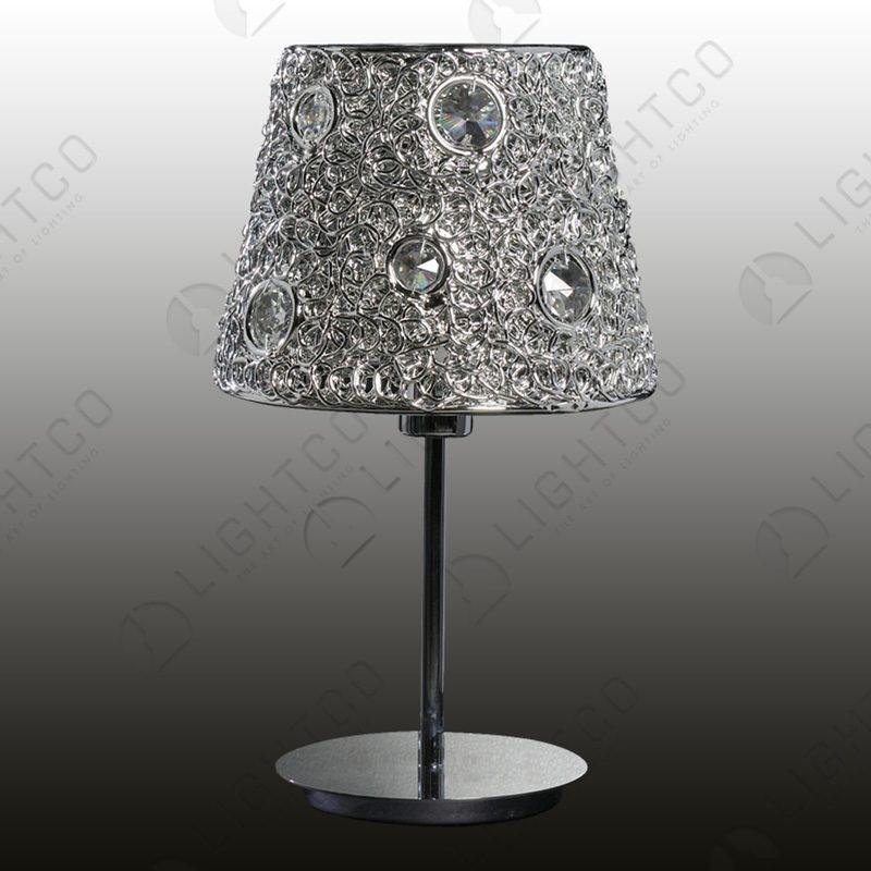 TABLE LAMP ACRYLIC AND SHADE