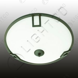 CEILING LIGHT WROUGHT IRON ALABASTER GLASS