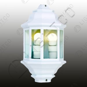 LANTERN HALF WALL DOUBLE LAMPS