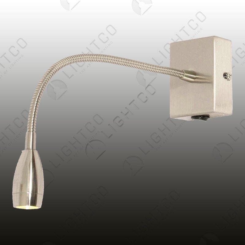 WALL LIGHT LED FLEXI ARM SQUARE BASE