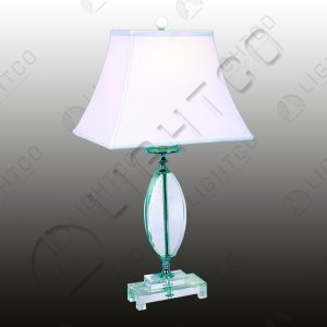 TABLE LAMP ACRYLIC + WHITE SHADE