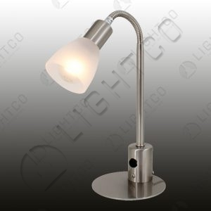 TABLE LAMP GOOSE NECK AND GLASS AND SWITCH