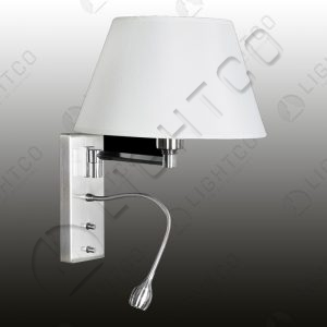 WALL LIGHT ROUND SHADE + FLEXI LED