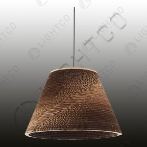 PENDANT CARDBOARD CONICAL SHADE