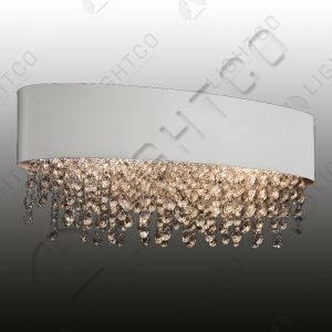 WALL LIGHT OVAL METAL SHADE WITH K9 CRYSTALS