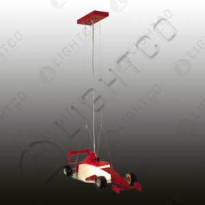 PENDANT RACING CAR RED