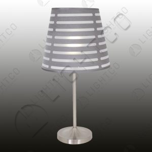 TABLE LAMP INCL. SLATTED SHADE