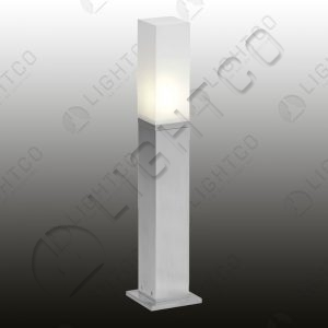 BOLLARD SHORT SQUARE ALUMINIUM WITH BASE
