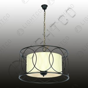 PENDANT WROUGHT IRON ROUND INNER SHADE