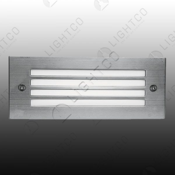 FOOT LIGHT RECESSED GRID LARGE RECTANGLE