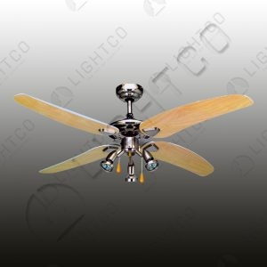 FAN 4 BLADE WITH 3 SPOTLIGHTS & PULL STRINGS