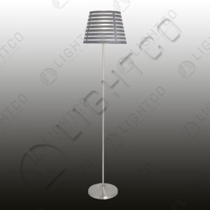 FLOOR LAMP INCL. SLATTED SHADE