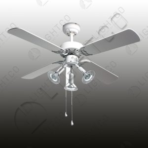 FAN 4 BLADE WITH 3 LIGHT SPOT