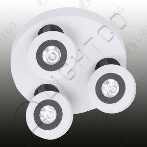 SPOTLIGHT LED TRIPLE ADJUSTABLE ON PLATE