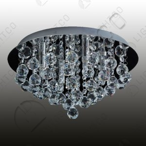 CEILING LIGHT CRYSTAL ROUND BASE LARGE REINA
