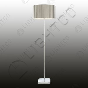 FLOOR LAMP WITH BOX PLEAT SHADE