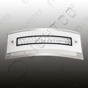 WALL LIGHT LED CURVED AND CRYSTAL RECTANGULAR