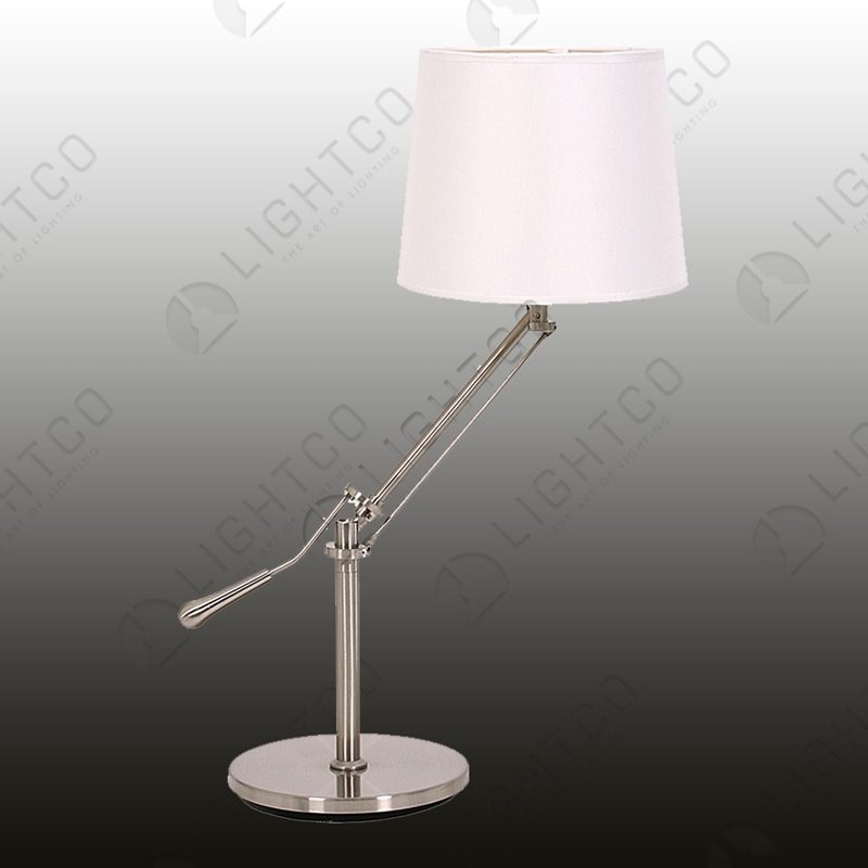 TABLE LAMP SWING ARM AND CREAM SHADE
