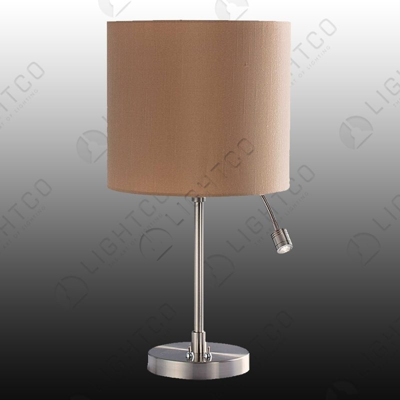 TABLE LAMP WITH LED SPOT AND SHADE