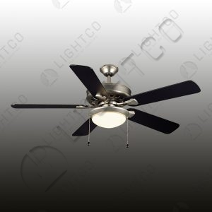 FAN 5 BLADE LIGHT WOOD CENTRE LIGHT KITWE