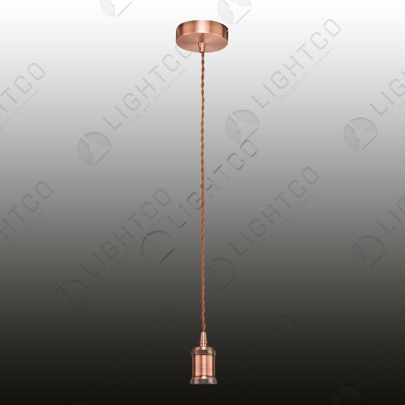 PENDANT CORD WITH TWISTED CABLE AND METAL LAMPHOLDER