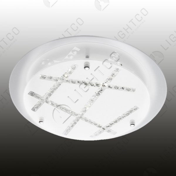 CEILING LED WITH CRYSTAL INLAY PATTERN