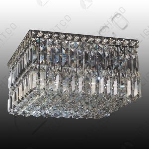 CEILING LIGHT SQUARE COMPLETE WITH CRYSTALS