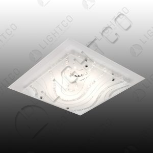CEILING LED SQUARE LARGE CRYSTAL