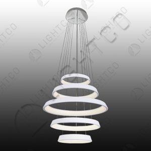 PENDANT 5 TIER LED RINGS WHITE