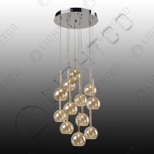 PENDANT 12 LIGHT GLASS CLUSTER