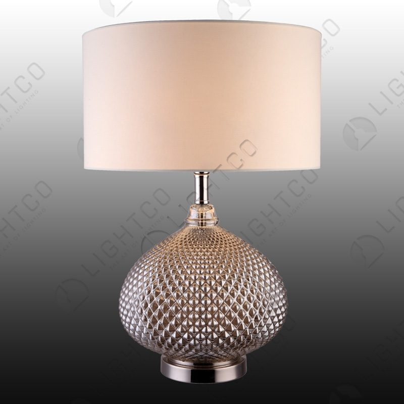 TABLE LAMP GLASS COMPLETE WITH SAHDE