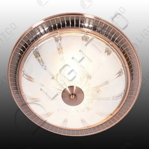 CEILING LIGHT FROSTED GLASS AND COPPER