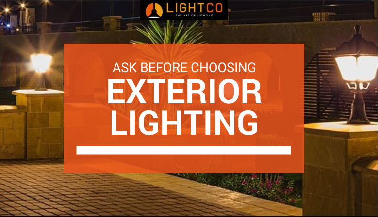 Outdoor Walls with Exterior Lighting